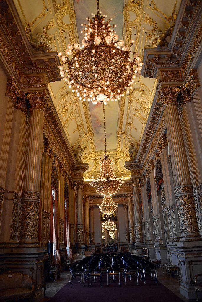 28 Golden Room Salon Dorado Ceiling Chandelier Chairs Teatro Colon Buenos Aires