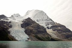 Mount Waffl, The Helmet, Mount Robson North Face, Berg Glacier and Berg Lake From Berg Trail At North End Of Berg Lake