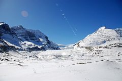 Mount Athabasca and Mount Andromeda, Athabasca Glacier, Snow Dome From Columbia Icefield