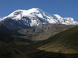 Chimborazo, located 150km south-southwest of Quito, is the highest mountain in Ecuador at 6310m. From left to right are four of the five summits of Chimborazo - Ventimilla (6267m), Whymper (6310m, Main), Politecnico (5820m, Central) and Nicolas Martinez (5570m, Eastern).