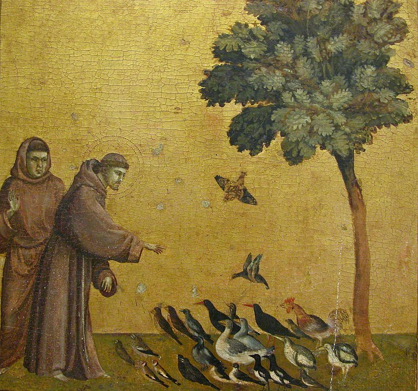 Paris Louvre Painting 1295-1300 Giotto di Bondone - St Francis Preaching To The Birds