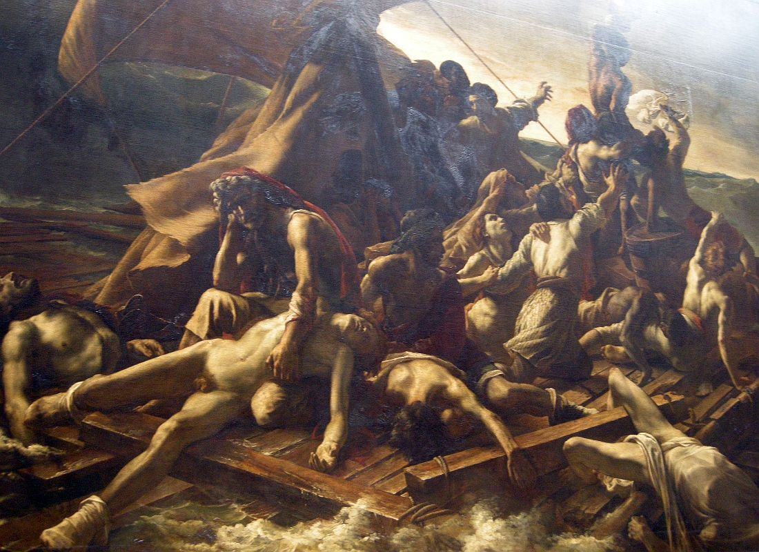 theodore gericault and his raft of the medusa A visit to italy in 1816-7 intensified géricault's appreciation of michelangelo on  his return to paris he painted his most famous work, 'the raft of the medusa'.