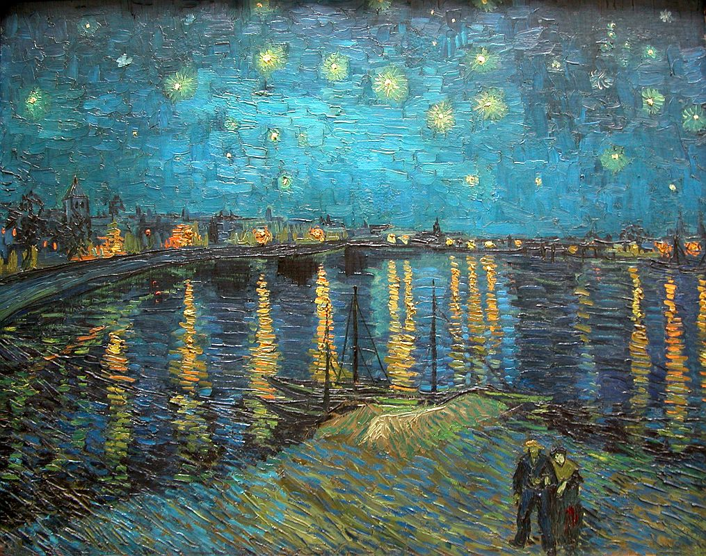 paris musee d 39 orsay vincent van gogh 1888 starry night over the rhone 1. Black Bedroom Furniture Sets. Home Design Ideas