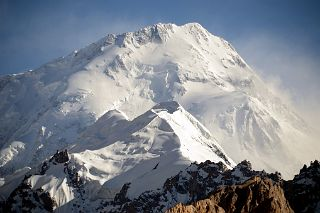 Gasherbrum I Hidden Peak North Face Close Up Late Afternoon From Gasherbrum North Base Camp in China