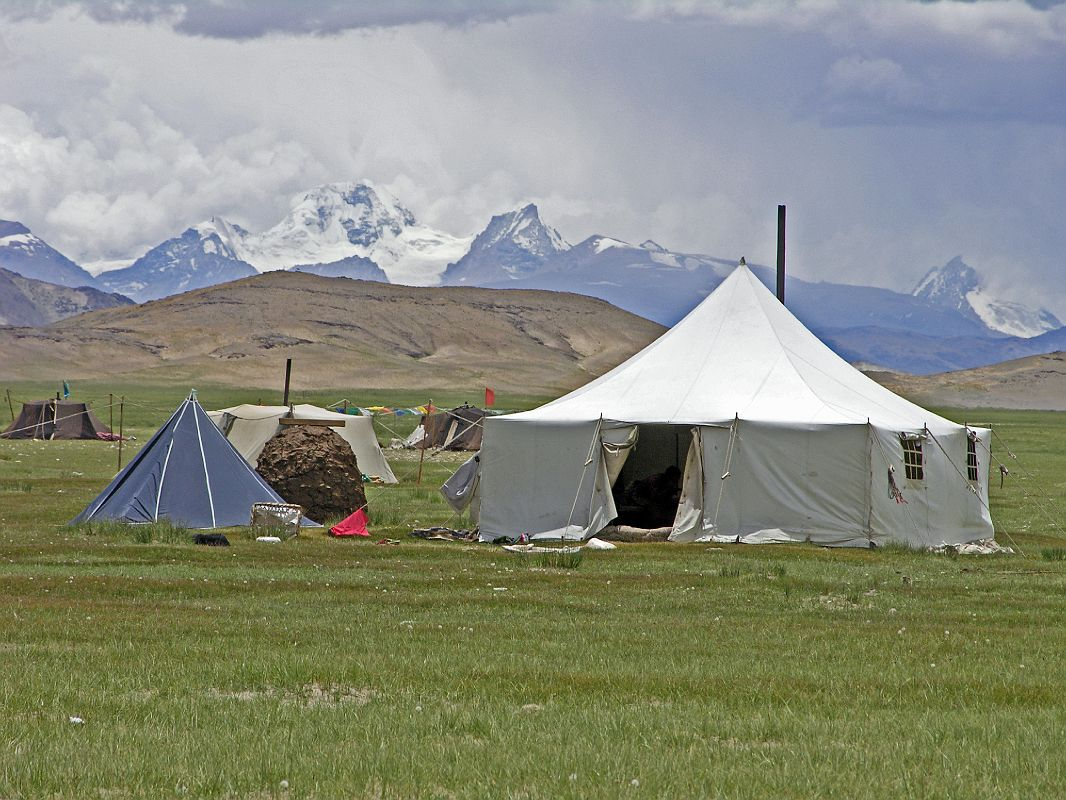 Tibet Kailash 04 Saga to Kailash 16 Paryang Nomad Tent with Nepal Mountains & Kailash 04 Saga to Kailash 16 Paryang Nomad Tent with Nepal Mountains