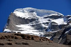 The best view of the West Face of Mount Kailash is from Tamdrin in the Lha Chu Valley.