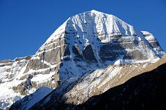 There is a perfect view of Mount Kailash North Face from Dirapuk Gompa.