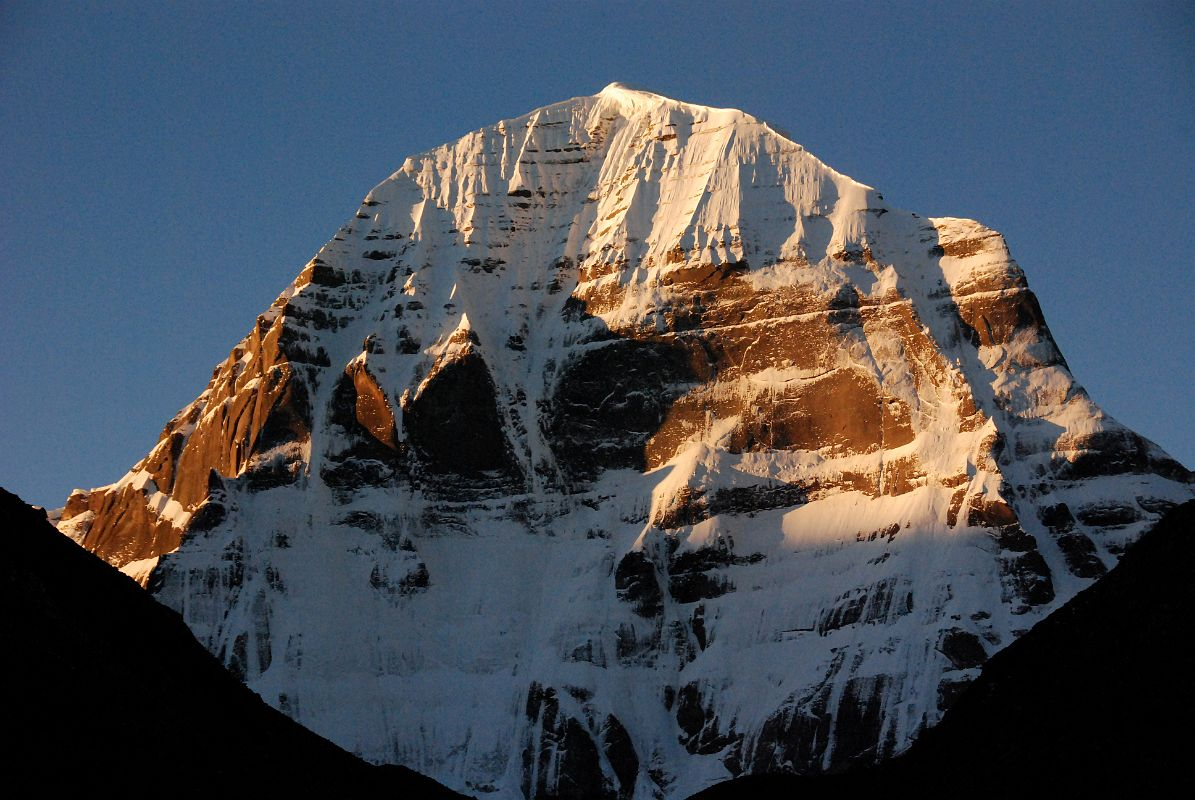 Sunrise on Mount Kailash North Face is just perfect from Dirapuk.
