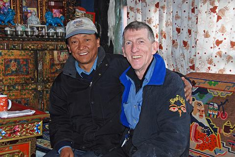 Mustang Future King Jigme S. P. Bista And Jerome Ryan At Royal Palace In Lo Manthang in 2008