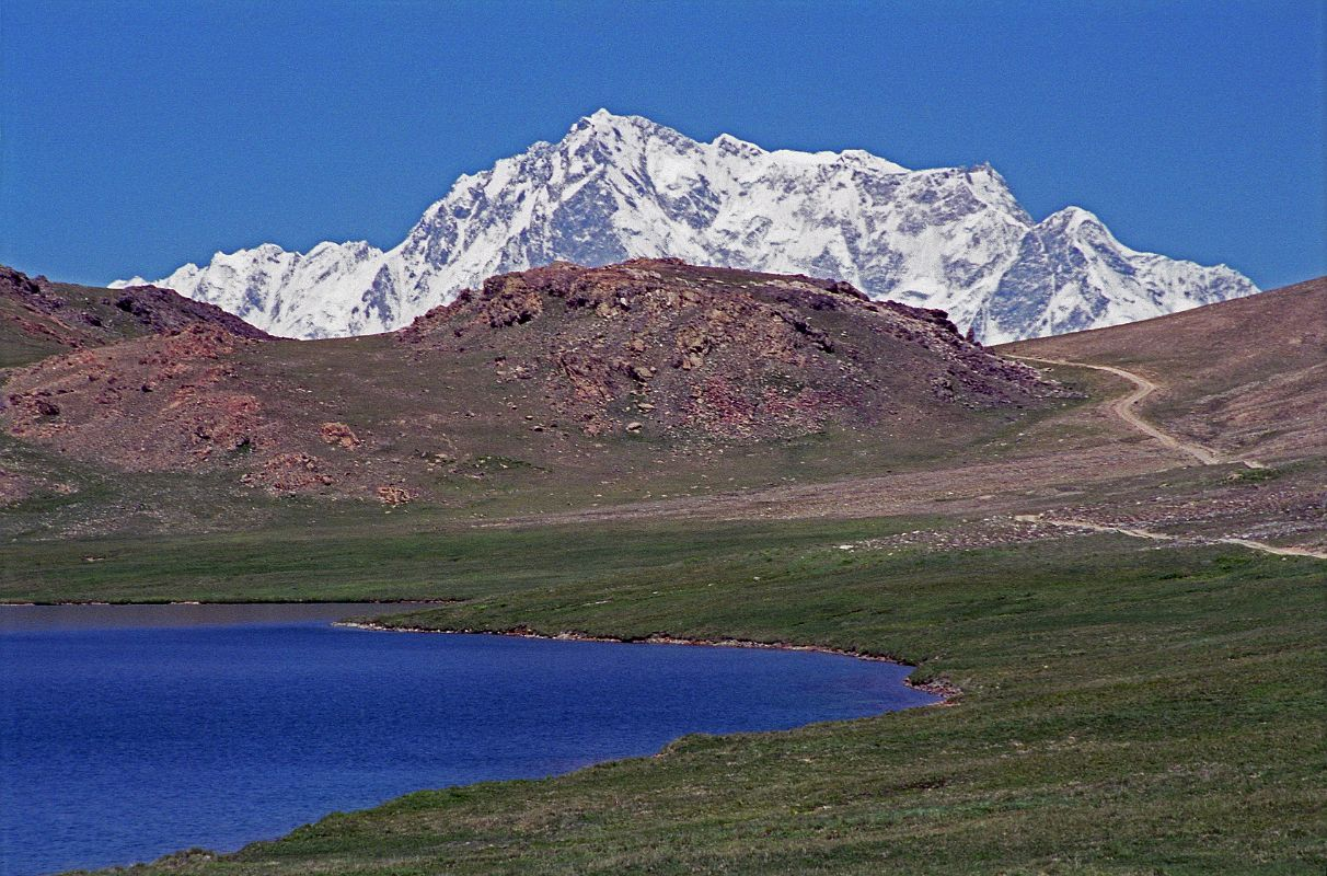 there in front of Sheosar Lake on the Deosai Plains was the Rupal face ...
