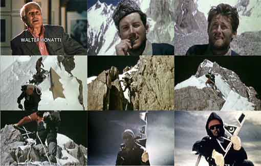 Walter Bonatti And Carlo Mauri, Climbing Gasherbrum IV In 1958, Carlo Mauri And Walter Bonatti On Gasherbrum IV Summit August 6, 1958 - Al Filo De lo Imposible La Arista De Peuterey DVD