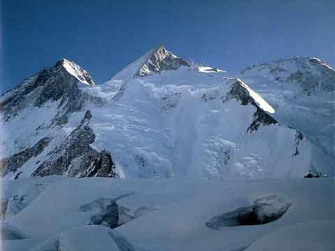 Gasherbrum III and Gasherbrum II From Southwest - All Fourteen 8000ers (Reinhold Messner) book