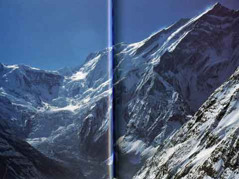 Full view of Annapurna Northwest Face - Annapurna: 50 Years of Expeditions in the Death Zone (Reinhold Messner) book