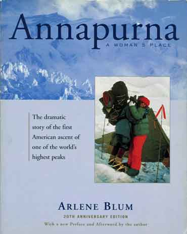 Annapurna North Face, Annie Whitehouse Hugs Christy Tews - Annapurna: A Woman's Place book cover