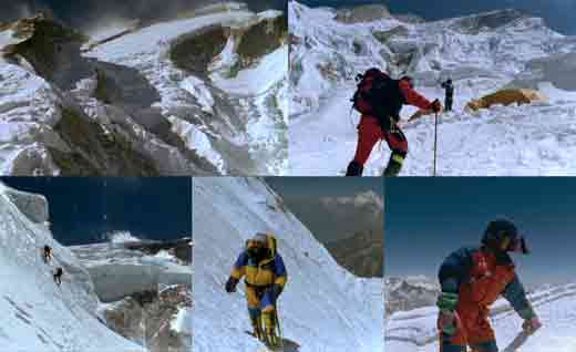 Annapurna North Face, Camp 1, Climbing Ice To Camp 2, Juanito Oiarzbal With Dhaulagiri, Juan Vallejo On Annapurna Summit April 29, 1999 - Ascension Al Annapurna Al Filo De Lo Imposible DVD -