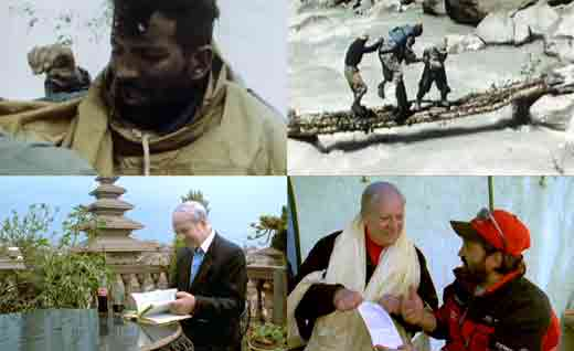 Maurice Herzog Returns To Camp 2 And Is Carried Across Miristi Khola 1950, Maurice Herzog Writes Message And Gives It Juanito Oiarzbal At Annapurna Base Camp 1999 - Ascension Al Annapurna Al Filo De Lo Imposible DVD -