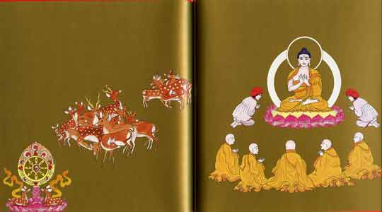 Buddha giving first teaching at Deer Park - Buddha (Demi) book