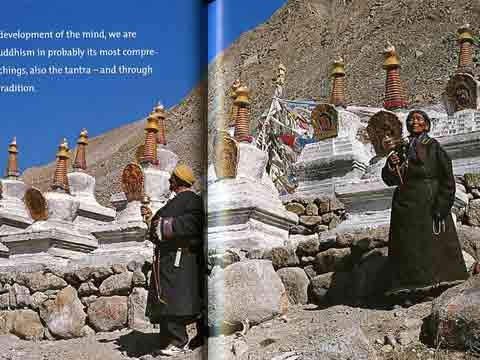 Pilgrims At Dirapuk Gompa Chortens On Kailash Kora - Buddhism: Eight Steps To Happiness by Dieter Glogowski book