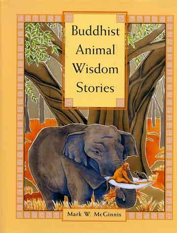 The Partridge, The Monkey, And The Elephant illustration - Buddhist Animal Wisdom Stories book cover