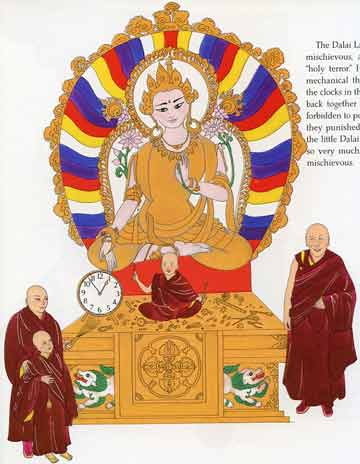 Young mischevious Dalai Lama with his Teaachers - Dalai Lama (Demi) book