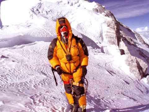 Lincoln Hall Just Below Everest Summit May 25, 2006 - Dead Lucky book
