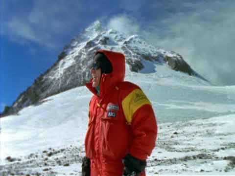 Peter Hillary on South Col With Everest Behind 2002 - Everest 50 Years on the Mountain (National Geographic) DVD