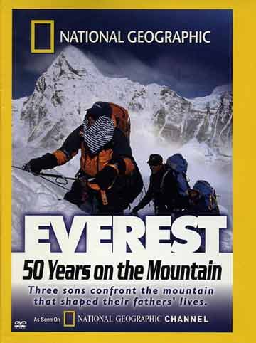 Peter Hillary with Pumori in background - Everest: 50 Years on the Mountain (National Geographic) DVD cover