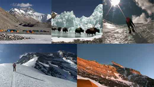 Everest North Face And Base Camp, Yaks To ABC, Climbing To North Col, Climbing To Camp 2, Camp 3 And Everest North Face At Sunset - Everest: Arete Nord Versant tibetain DVD