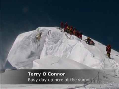 Terry O'Connor and guide Bill Crouse reached the Everest Summit on May 14, 2006 - Everest: Beyond the Limit Season 1 (Discovery Channel) DVD