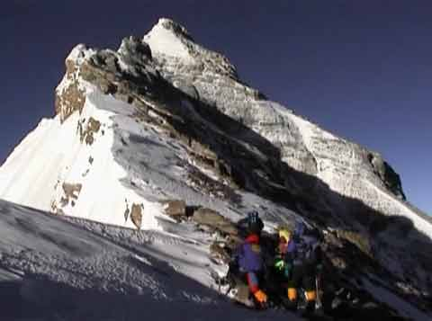 Everest North Face Approaching The Second Step May 16, 2002 - Everest: In the Footsteps of Legends DVD