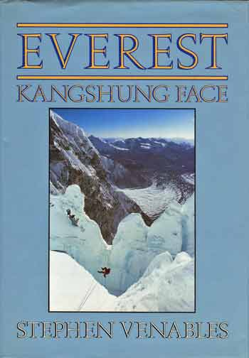Ed Webster crossing the Crevasse using a Tyrolian traverse - Everest: Kangshung Face book cover