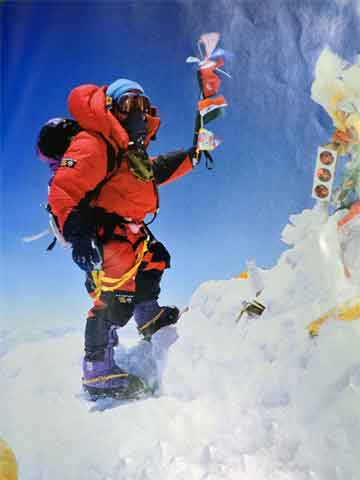 Jamling Tenzing Norgay On Everest summit May 23, 1996 - Everest Mountain Without Mercy book