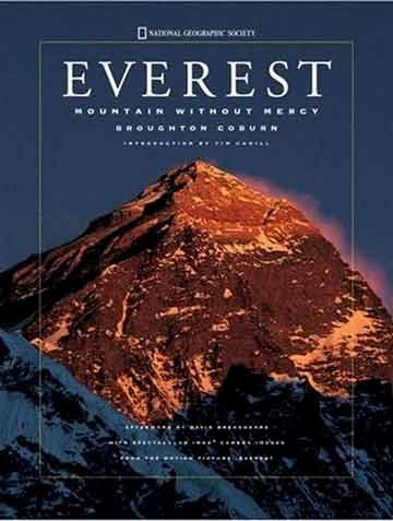 Everest sunset from Kala Pattar - Everest Mountain Without Mercy book cover