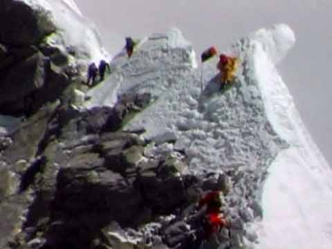 Climbers on the Everest Summit Ridge To Hillary Step May 5, 1999 - Everest: Mountain at the Millenium DVD