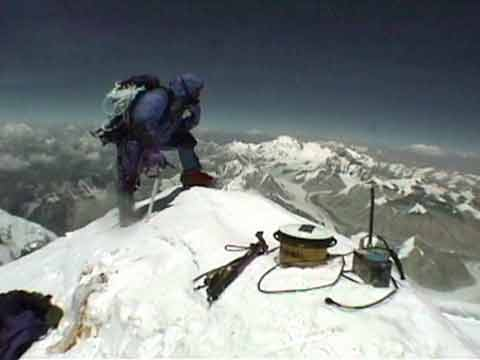Everest Summit With GPS Measuring Device May 5, 1999 - Everest: Mountain at the Millenium DVD