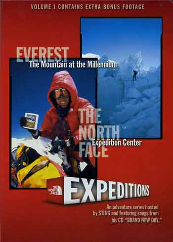 Pete Athans on Everest summit - Everest: Mountain at the Millenium DVD cover