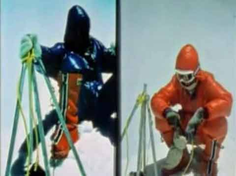 Peter Habeler and Reinhold Messner On Everest Summit After First Climb Without Oxygen May 8, 1978 - Everest Unmasked Video