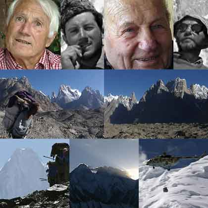 Walter Bonatti and Riccardo Cassin, Porters With Trango Tower, Uli Biaho and Cathedral Peak, Gasherbrum IV, Sunrise Over Gasherbrum IV, Military Heliecopter - Gasherbrum 4 2002 DVD