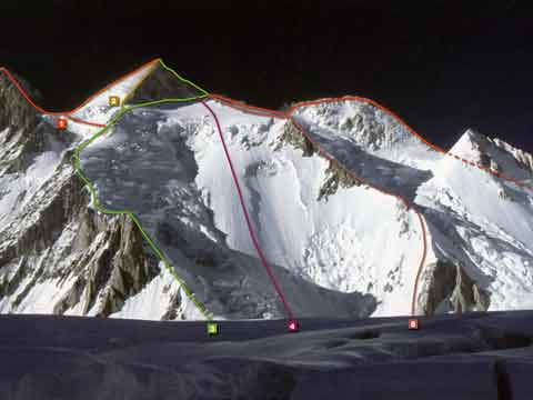 Gasherbrum II First Ascent East Ridge Route 1983 - Route 6 - 8000 Metri Di Vita 8000 Metres To Live For book