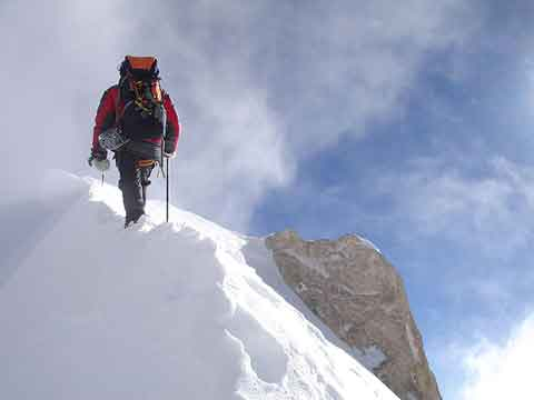 Gasherbrum II First Ascent North Face - Karl Unterkircher A Few Metres From Gasherbrum II Summit July 20, 2007 - karlunterkircher.com