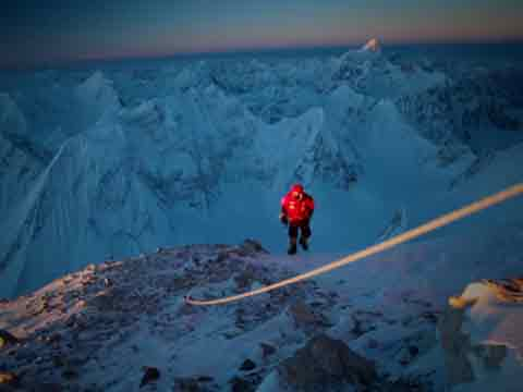 Gasherbrum II First Winter Ascent - Simone Moro Reaches First Sun At 7600m On Gasherbrum II On February 2, 2011 - Cory Richards Video