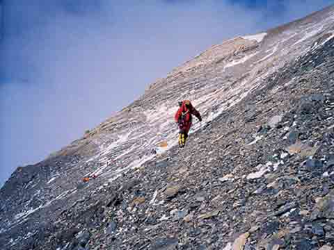 Approaching the Mallory and Irvine search area from Camp VI - Ghosts Of Everest book