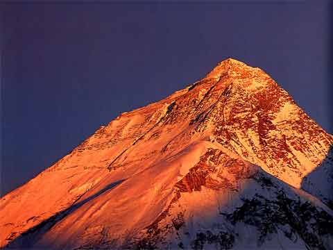 Everest, Lhotse and Nuptse At Sunset From Pumori - Hall and Ball book