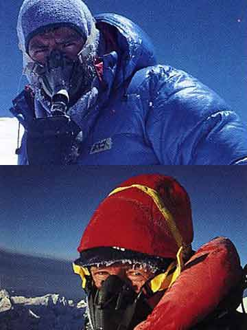 Rob Hall and Gary Ball on Everest Summit May 10, 1990 - Hall and Ball book