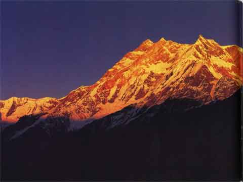Annapurna Northwest Face, Fang, Annapurna South At Sunset From Thulo Bugin Ridge - Heart Of The Himalaya Everest book