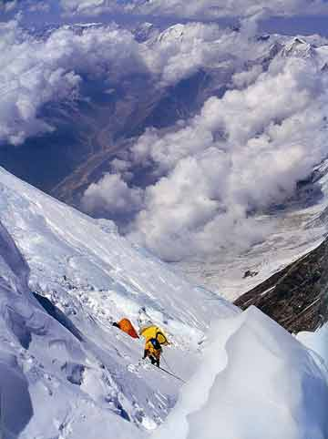 Veikka Gustafsson nears Manaslu High Camp 7530m - Himalayan Quest: Ed Viesturs on the 8,000-Meter Giants book