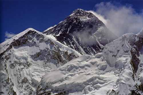 Everest Southwest Face close up from Kala Pattar - Himalayan Trails (Sentiers de l'Himalaya) book