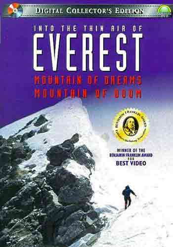 Anatoli Boukreev on Everest summit ridge May 10, 1996 - Into the Thin Air of Everest - Mountain of Dreams, Mountain of Doom DVD cover