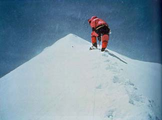 Charley Mace Photo Of Ed Viesturs on K2 Summit August 16, 1992 - K2: Life and Death on the World's Most Dangerous Mountain book