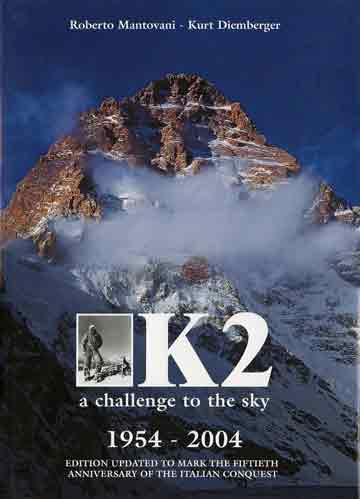 K2 West Face Photo By Galen Rowell - K2: Challenging the Sky book cover